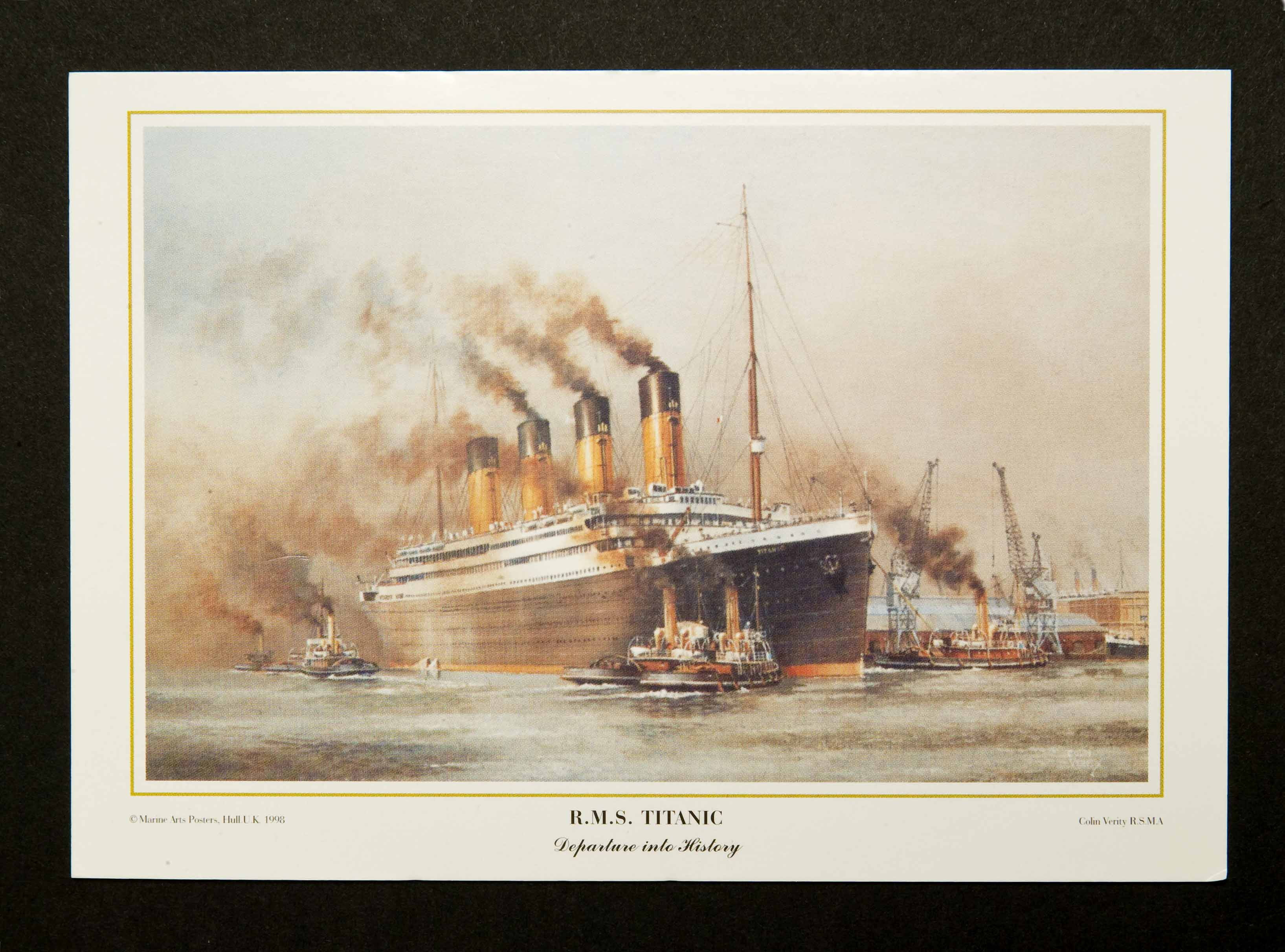 """ R.M.S. Titanic"" Departure into History Postcards (6)"
